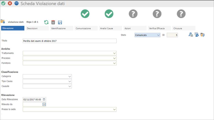 Registro data breach GDPR