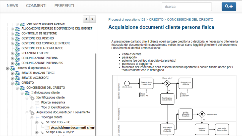 pubblicazione procedure di processo