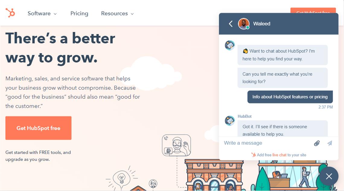 chatbot integrato al tuo sito web